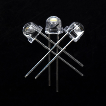 6000K 6500K 5mm White LED Straw Hat 6-7lm