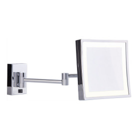 Square two arms lighted wall mirror