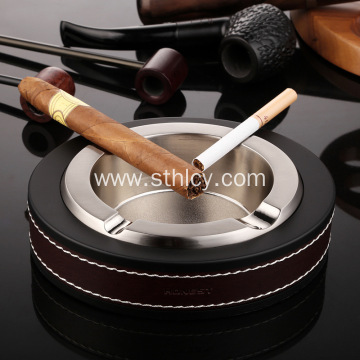 Leather Stainless Steel Ashtray Creative Fashion Personality