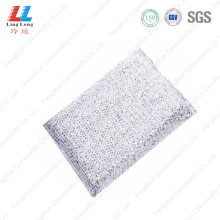 white silver scouring sponge pad