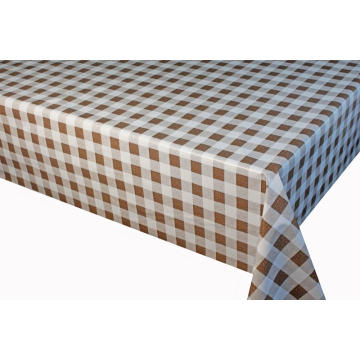 PVC Printed Tablecloth with Fiber Backing