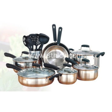Kitchen Stainless Steel Nonstick Frying Pan Cookware Set