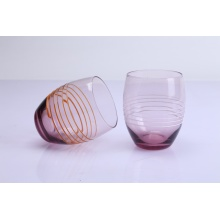 Pink Color Stemless Wine Glass