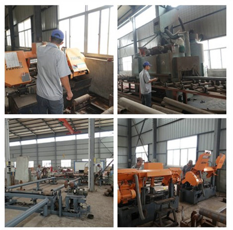 concrete pump pipe workshop equipment