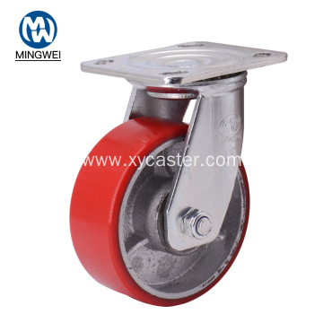 Swivel 5 Inch Red  Wheel Caster