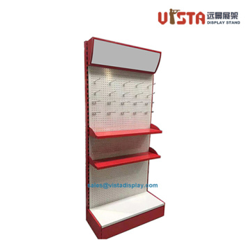 3 Shelf Floor Standing Pegboard Metal Display Stands