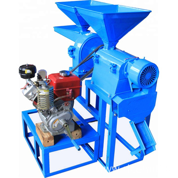Compact rice mill machine with diesel engine