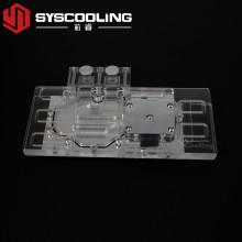 China for Graphic Card Water Block Syscooling new transparent graphic card water block GTX960 gpu high performance water cooling supply to India Suppliers