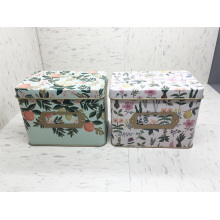 Wholesale Discount for Tea Storage Box Custom square tin containers export to India Exporter