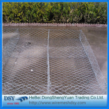 Double Twisted Hexagonal Gabion Box For Flood