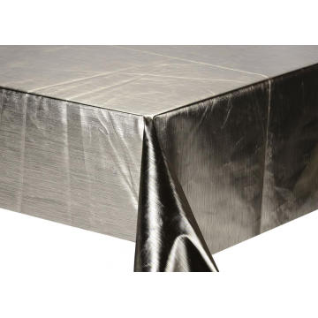 Silver Gold Printed Tablecloth by roll
