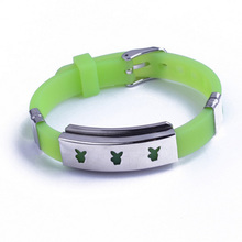 Silicone Titanium Steel Bracelet Jewelry For Couple Lovers