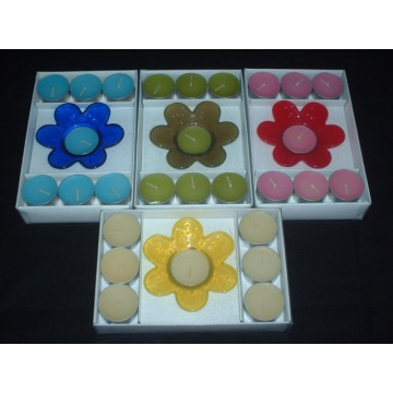 Natural Colorful Scented Tea Lights