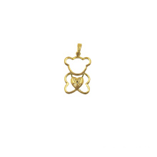 Teddy Bear K Gold Pendant