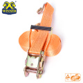 Polyester Webbing Light Ratchet Buckle Strap With J Hook