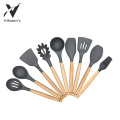 Silicone Cooking Utensils With Wooden Handle