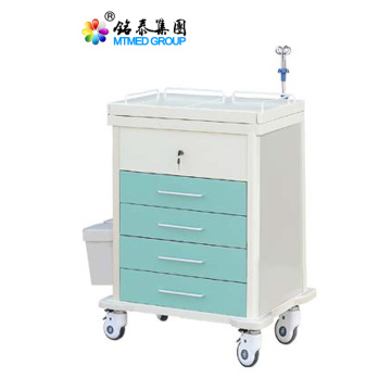 Color steel medical rescue cart