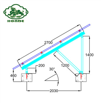 Solar Panel Concrete Base Mounting Systems Structure