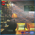 Brick effect tiles for living room wall