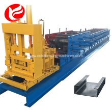 C Z type steel purlin roll forming machine