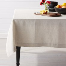 Linen cotton blend table cloth