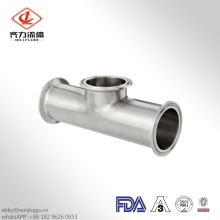 Clamped Sanitary Stainless Steel  Equal Tee