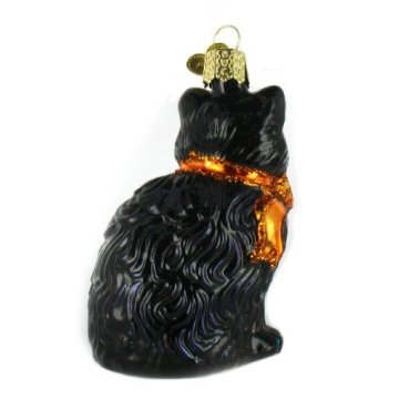Halloween Style Cat Blown Glass Ornaments Christmas Ornament
