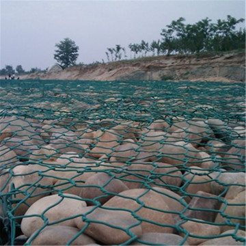 Dark Green Hex Gabion Mattress