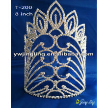 Custom large pageant crowns and tiaras for wholesale