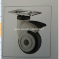 5Inch Plate Swivel TPR PP Material Medical Caster