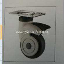 3 Inch Plate Swivel TPR PP Material Medical Caster