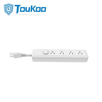 American 4 outlets power strip extension cord