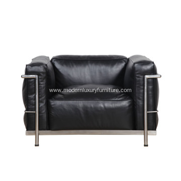 LC3 Grand Modele Leather Single Sofa