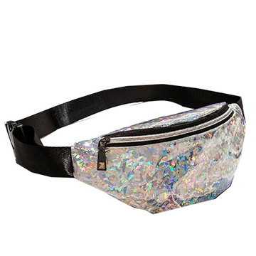Transparent Pvc Glitter Fanny Pack Hologram Waist Bag