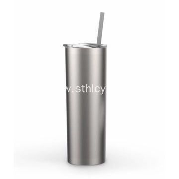 Double Wall Stainless Steel Cup With Straw