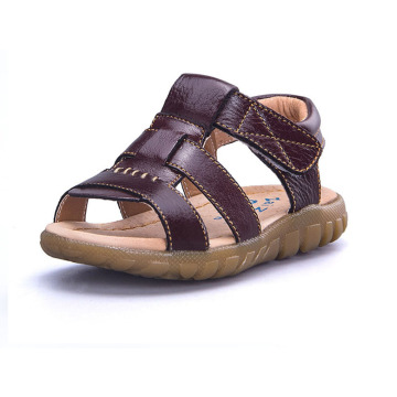Boy Leather Upper Rubber Outsole Sandals Shoes