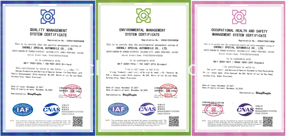 ISO certificate of CLW GROUP