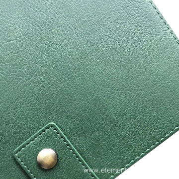 faux pvc synthetic leather with litchi grain