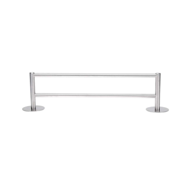Double bar Stainless Steel Towel Racks Holder Shelf