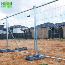 Removable hot-dipped galvanized temporary fencing
