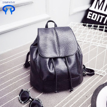 New style backpack women PU pure color satchel
