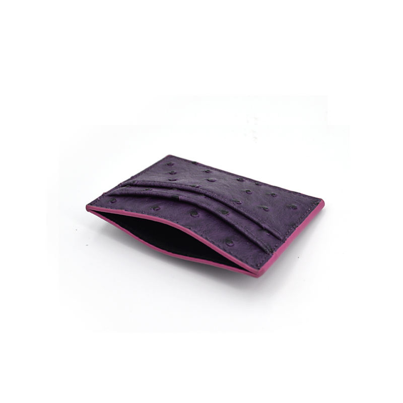 Fashion New Design Genuine Ostrich Leather Card Holder