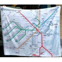 Country's metro map micropolar fleece blanket
