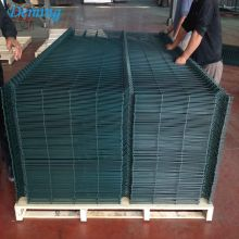 Galvanized PVC coated panel welded wire mesh fence