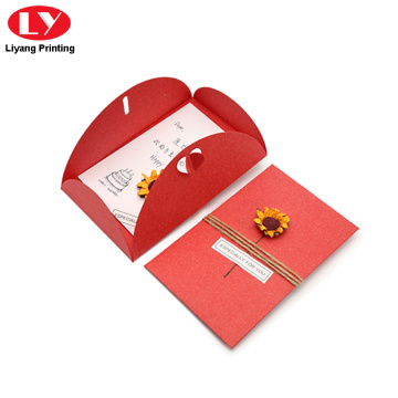 Birthday gift paper card printing with envelope