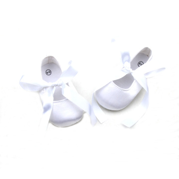 Attractive Design White Satin Baby Ballet Shoes