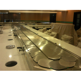 Low noise hot pot conveyor belt