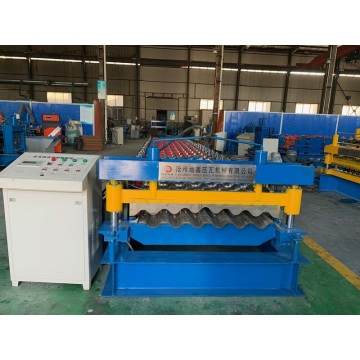 2019 corrugated roof tile galvanized cold forming machine