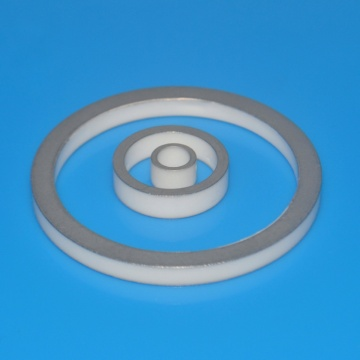 Metallized ceramic ring covered by metal plating