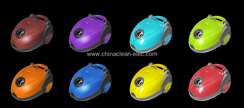 colorful bagged vacuum cleaner